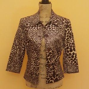 ⬇️175 Trina Turk palm springs giraffe jacket Rk:7